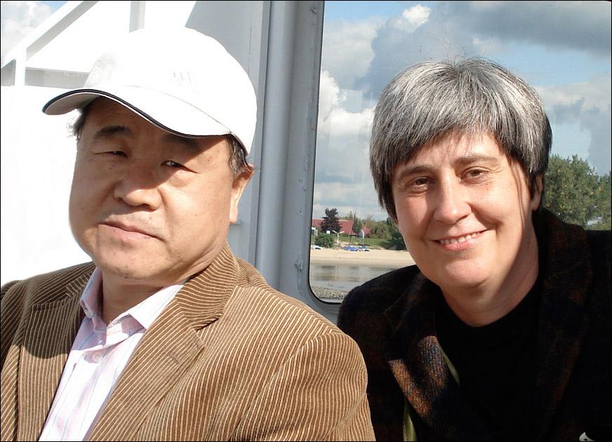 Mo Yan, Nobelpreisträger 2012, mit Susanne Hornfeck